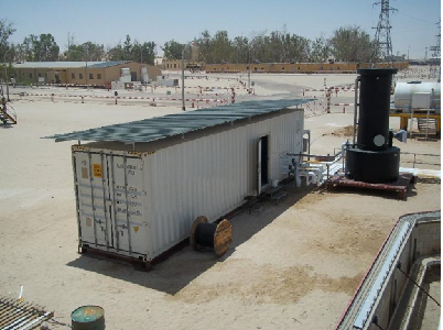 Oil field (drink and process) water supply plant with degassing tower